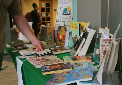 Students can check out a variety of banned books from Drinko Library.