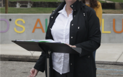 Jeanette Rowsey speaking during the conference.