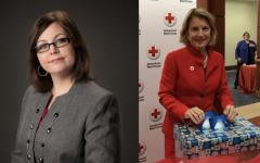 Democratic candidate Paula Jean Swearengin and Republican Sen. Shelley Moore Capito.