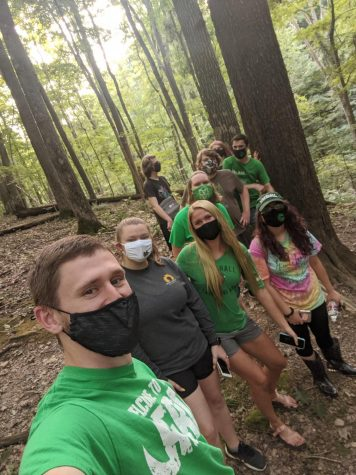 Chi Alpha group during a recent hiking event.