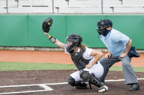 Freshman catcher Kat Sackett was a bright spot for the Herd in game one during a dull weekend. She hit two home runs on her two hits, racking up six RBIs.