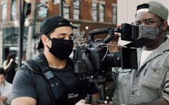Filmanatix staff shooting a project in April 2021 with a Flycam Galaxy Vest and Canon C500 m2.