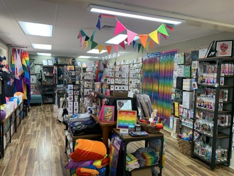 After one month of being opened during the pandemic, Full Circle Gifts fills their business with pride merchandise.