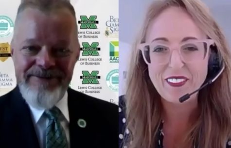 Timothy Bryan (left) and Shayna Chapman (right) share presentations in Small Business Webinar Series.
