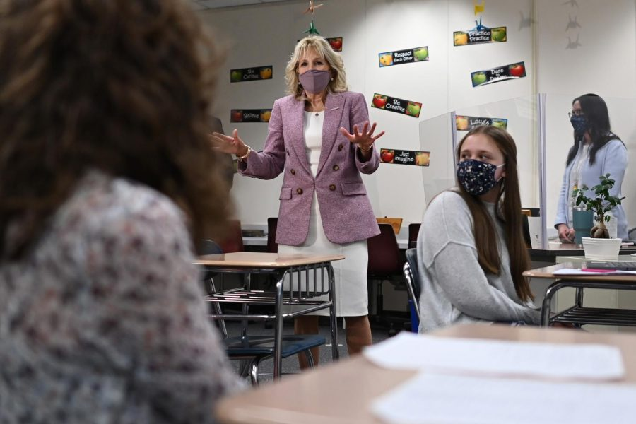 Jill Biden finds time to give back in the classroom