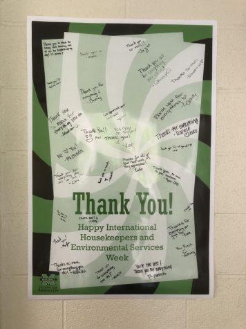 Marshall University show their appreciation for international housekeeping week