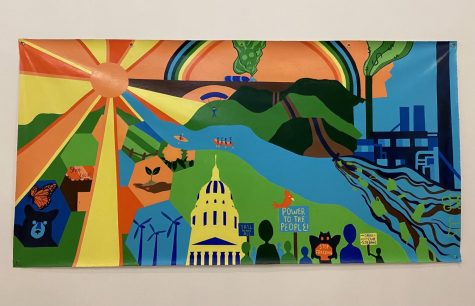 The mural was created by Baleigh Epperly, eight current members, Marshall alumnae and former vice president Abi Taylor. | Baleigh Epperly